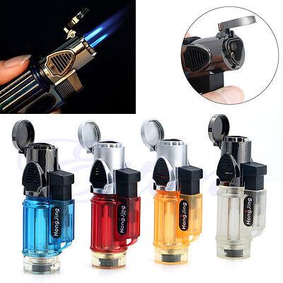 Windproof Refillable Butane Gas Trip Torch Jet Flame Cigarette Cigar Lighter New 2