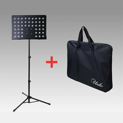 Orchestral Sheet Music Stand Tripod Height Angle Adjustment Portable Folding+Bag 3