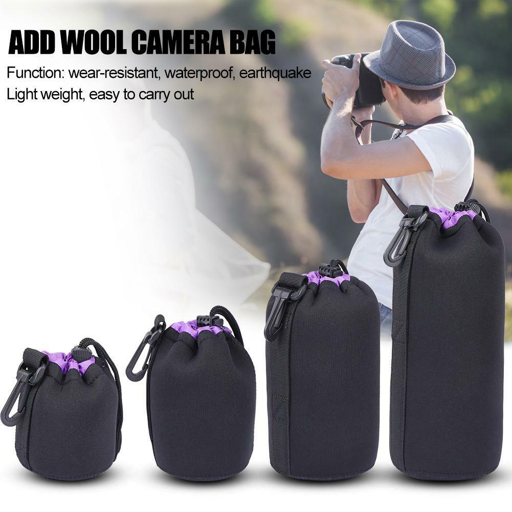 S-XL Waterproof Neoprene Lens Pouch Bag Protective Case for Digital SLR Camera 5