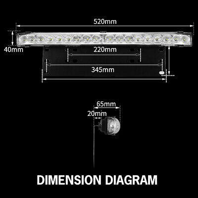 20 inch CREE LED Light Bar With Number Plate Frame For Car SUV Offroad Trucks 12