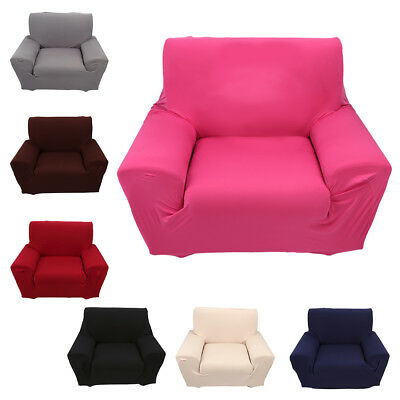 1/2/3/4 Seater Stretch Elastic Fabric Sofa Cover Couch Covers Spandex 7
