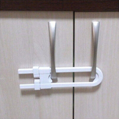 Baby Safety Lock U-Shape Security Children Protection For Cabinet Cupboard Door 3