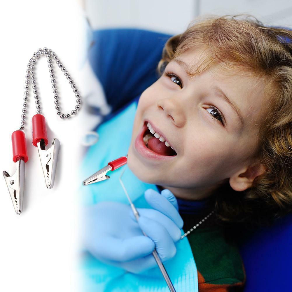 1pcs Dental Lab Bib Clips Napkin Holder Flexible Ball Chain Bib Clips Dentist 4