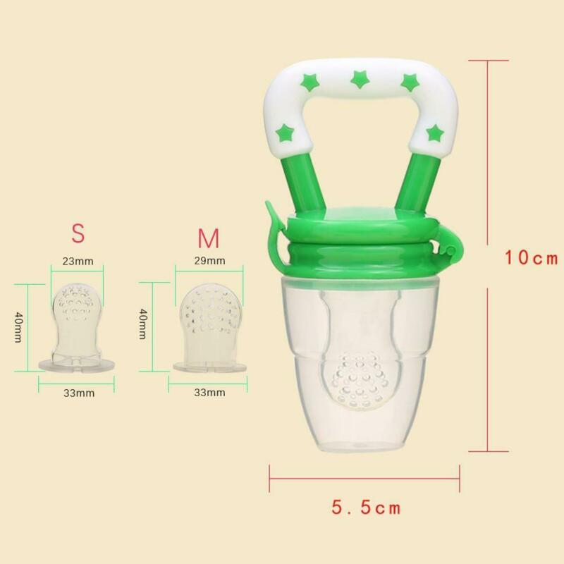 Portable Baby Food Fruit Nipple Feeder Pacifier Safety Soft Silicone Feeding new 10