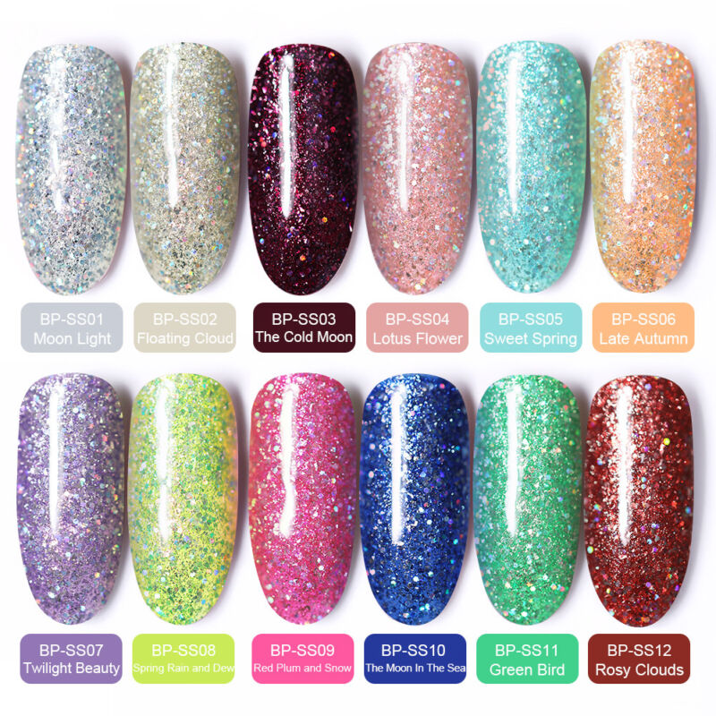 BORN PRETTY Esmalte de Uña de Gel UV LED Semipermanente Soak off Manicura UV/LED 3