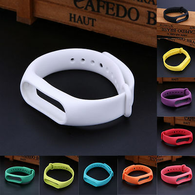 Silicone Wrist Strap Fitness Band with Clasp For Xiaomi Mi Band Miband 2 Tracker 3