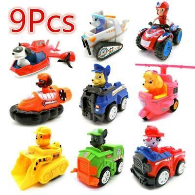 9 pièces figurine jouet pat patrouille paw patrol chien chat voitures quad enfan 4