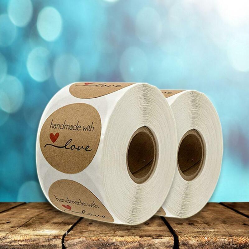 Handmade with Love Aufkleber Seals DIY Fertigkeit Runde K0T8 M3L5