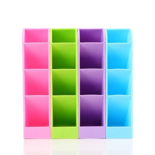 Plastic Desk Organizer Desktop Office Pen Pencil Holder Makeup Storage Tray &Nic