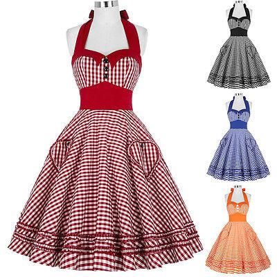 1950s Retro VINTAGE Pinup Costume A Pois Swing DA SERA Casalinga abito da tè 5