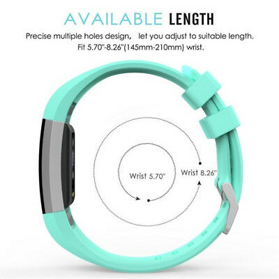 FOR Fitbit CHARGE 2/HR Replacement Silicone Rubber Band Strap Wristband Bracelet 6