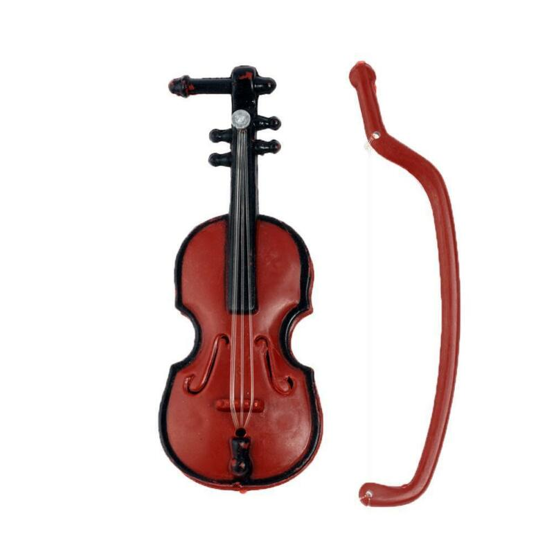 1:12 Doll House Miniature Music Instrument Violin Model Room Mini-Instrument New 7