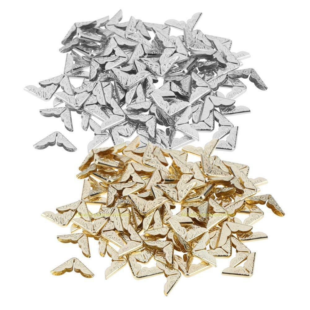 100 Stück Buchecken Metallecken Ecken 8mm Bücher Schutzecken zwei Farebn