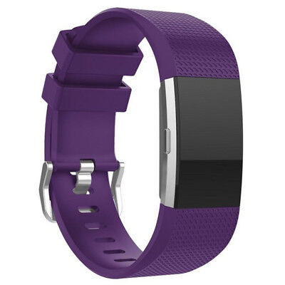 FOR Fitbit CHARGE 2/HR Replacement Silicone Rubber Band Strap Wristband Bracelet 11