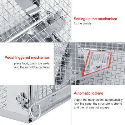 AU Metal Humane Rat Trap Cage Live Pest Rodent Mice Mouse Control Bait Catch Box