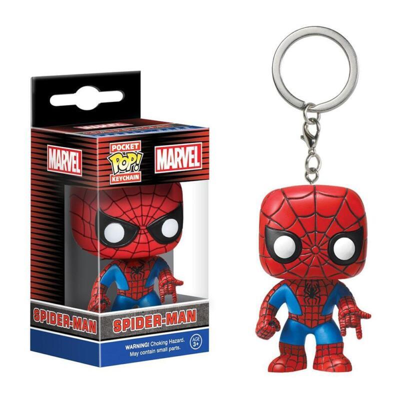Funko Pop! Keychain Baby Groot Batman SpiderMan DeadPool Vinyl Figure Keyring FR 4
