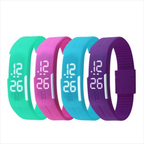Multifunction LED Sport Electronic Digital Wrist Watch For Child Boys Girls Kids 6