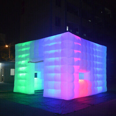 Outdoor Inflatable LED Tent Air Cube with Customized Door and Window for Party 3