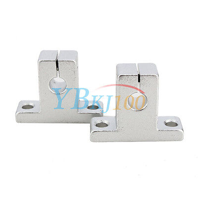 2PCS SK8/10/12/16 Linear Rail Bearing Shaft Guide Support Bracket Clamp Alloy
