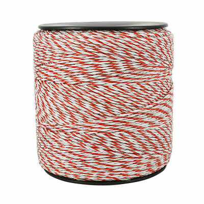 4x500m Roll Electric Fence Energiser Stainless Steel Poly Wire Insulator Rope 6