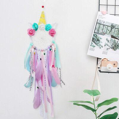 Handmade Colorful Unicorn Dream Catcher Girl's Gift Wall Hanging DreamCatcher 2