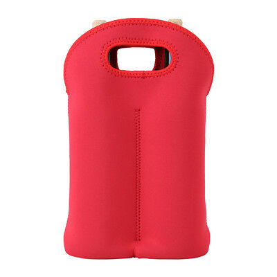 Red Two Bottle Insulated WINE TOTE Bag NEOPRENE Carrier Cooler Waterproof Bag IS 9