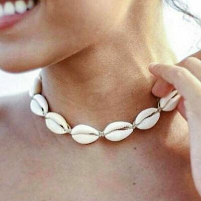 Boho Bohemian Sea Shell Beaded Pendant Chain Choker Necklace Women Beach Jewelry 12