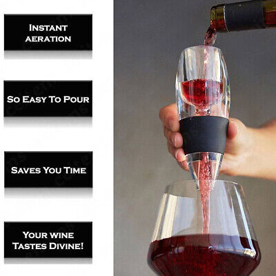 Magic Decanter Pourer Essential Aerating Air Hopper Red Wine Aerator Filter Set 6