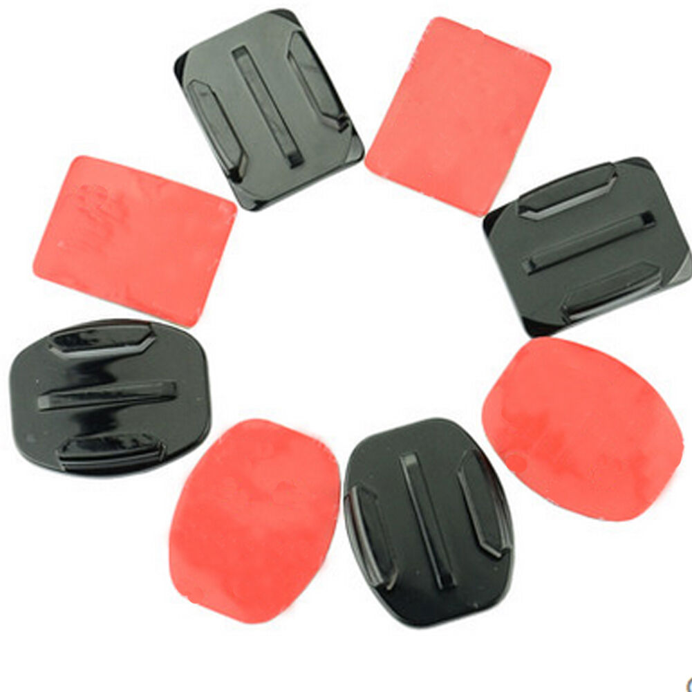 6PC Helmet Pat Flat Curved Adhesive Accessories for Gopro Hero 1 2 3(no mount) 7