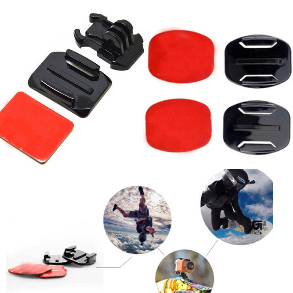 6PC Helmet Pat Flat Curved Adhesive Accessories for Gopro Hero 1 2 3(no mount) 2
