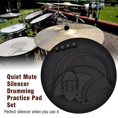 10Pcs Rubber Foam Bass Snare Drum Sound Off Quiet Mute Silencer Practice Pad AU 2
