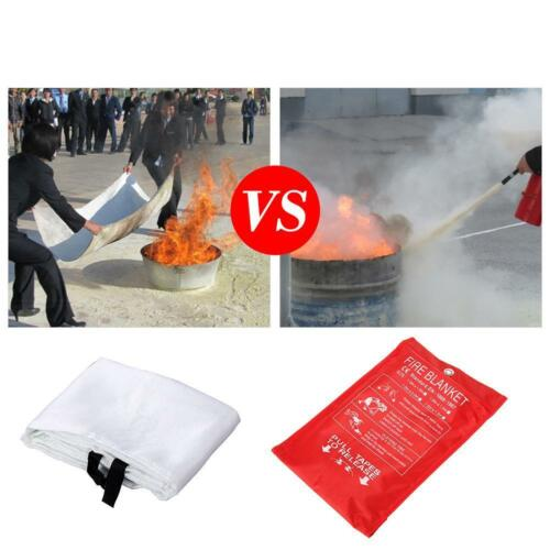 FIRE BLANKET 1M x 1M QUALITY QUICK RELEASE LARGE FULLY APPROVED RED CASE 6