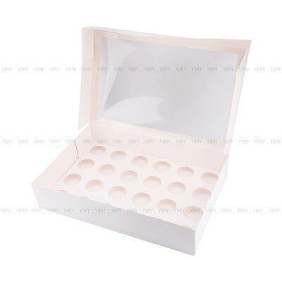 Cupcake Box Cases 1 hole 2 hole 4 hole 6 hole 12 hole 24 hole Window Face Gift 9