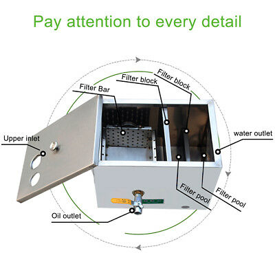 Stainless Steel Grease Trap Interceptor for Restaurant Kitchen Wastewater 3