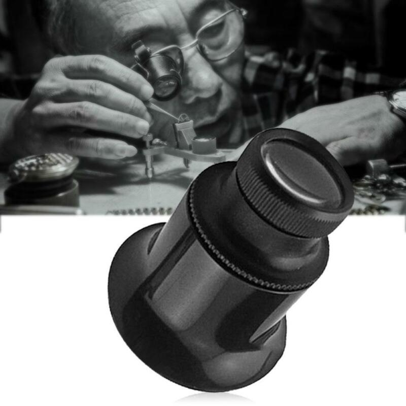 20 fach stark Augenlupe Augenlupe Okular Juwelier Uhrmacherlupe SchwarzD-Gi Q7K5 7