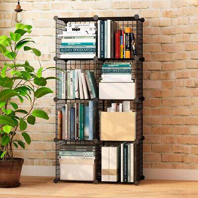 Estanteria Modular Metalica Libreria Baño 8 Cubos Moderna armario pared vitrina 3