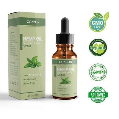 Organic Hemp Oil for Pain Relief Sleep Aid Anti Stress 5000mg Extract Drops 2