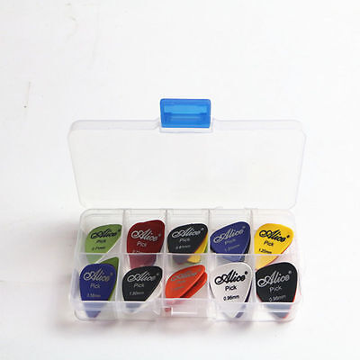 Acoustic Electric Guitar Gear Picks Plectrum Various thickness + Pick Box 9