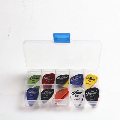 Acoustic Electric Guitar Gear Picks Plectrum Various thickness + Pick Box