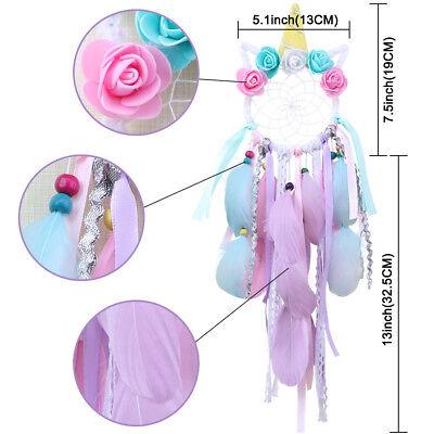 Handmade Colorful Unicorn Dream Catcher Girl's Gift Wall Hanging DreamCatcher 5