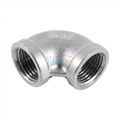 """1/2"""" Elbow 90 Degree Angled Stainless Steel 304 Female Threaded Pipe Fitting HOT"""