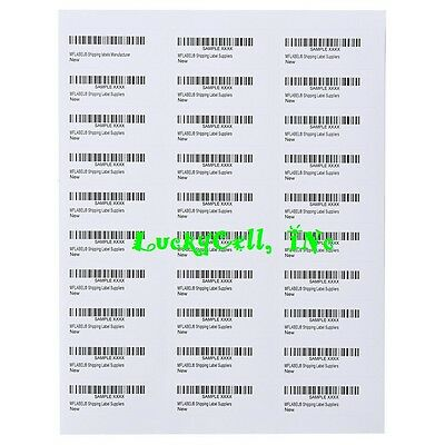 3000 Address Labels Amazon FBA Labels 30 Per Sheet 30UP 2.625''x1'' 100 Sheets