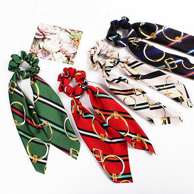 Attractive Ponytail Scarf Bow Elastic Hair Rope Tie Scrunchies Ribbon Hair Bands 12