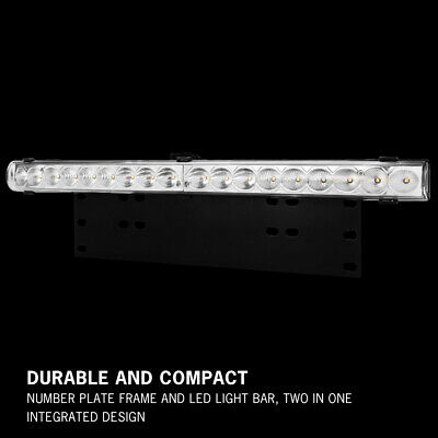 20 inch CREE LED Light Bar With Number Plate Frame For Car SUV Offroad Trucks 7