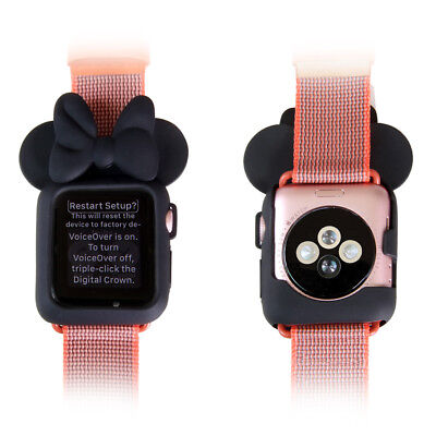 buy popular a22fb 7c733 DISNEY MINNIE TPU Snap On Protective Case Cover For Apple Watch iWatch  38mm/42mm