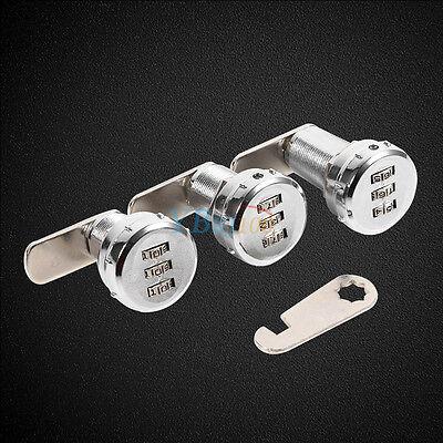 3-stellig Code Kombi Schrankschloß Briefkastenschloß Zahlenschloss Passwort Lock