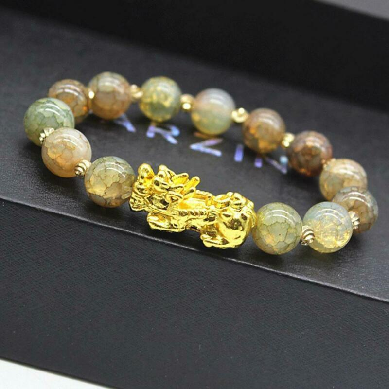 Pixiu Chinese Good Lucky Charm Feng Shui Pi Yao Wealth Bracelets Jade Jewelry 2