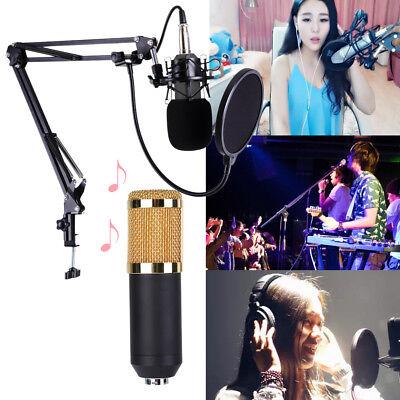 BM800 Condenser Microphone Kit Studio Suspension Boom Sound Card Mic Shock Mount 2