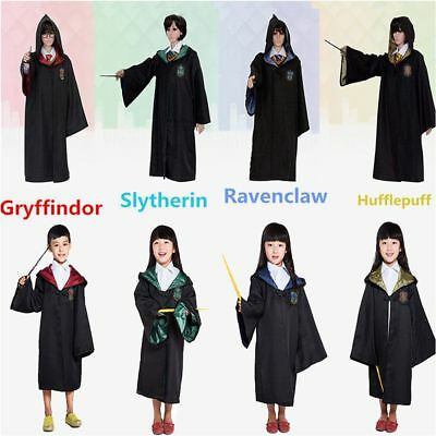 Harry Potter Cape Gryffondor Serpentard Robe cravate Echarpe Cosplay Costume 3