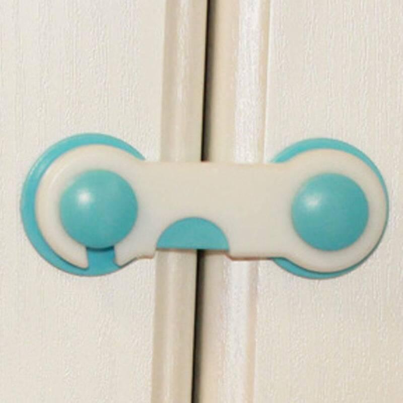 5 x Infant Child Safety Cabinet Door Fridge Drawer Cupboard Catch Lock Clip wj 3